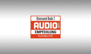 Testsiegel audio.de Bluesound Node 2 Empfehlung