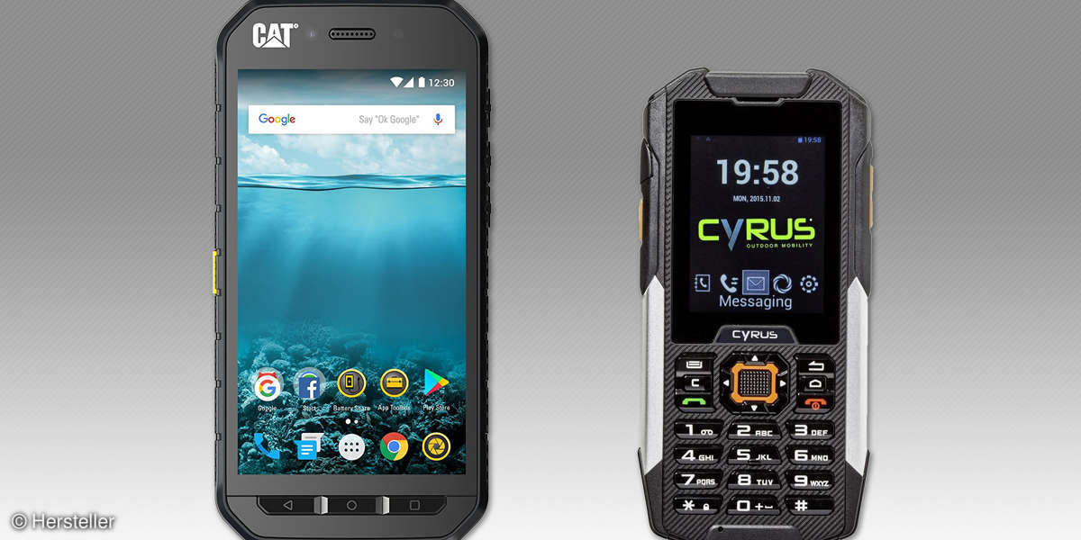 Ruggedized Handys und Smartphones