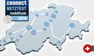 connect Mobilfunk-Netztest 2018 Schwei