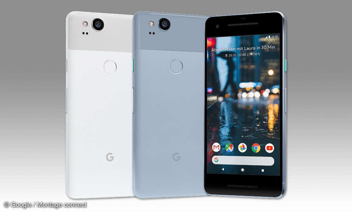 Google Pixel 2 Clearly White und Kinda Blue