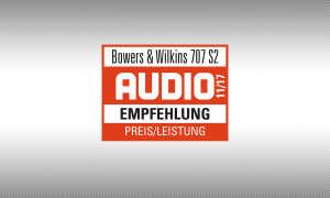 Testsiegel audio 11/17 B&W 707 S2