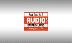 Testsiegel audio Focal Kanta No. 2 1/2018