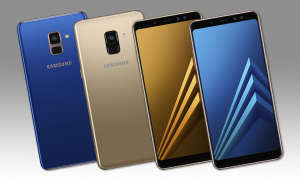 Galaxy A8 (2018) in Blau und Gold