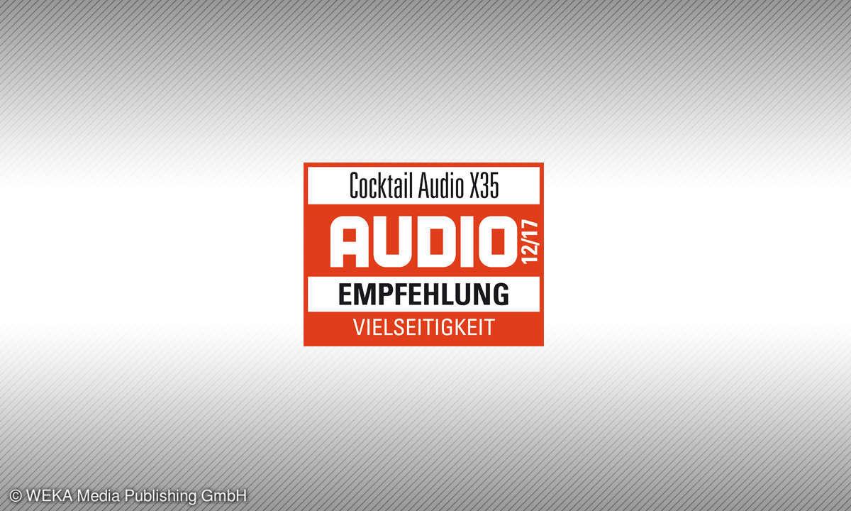 Testsiegel Cocktail Audio X35 Empfehlung 12/17