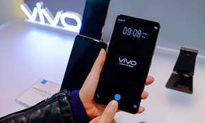 Vivo Smartphone mit Fingerabdrucksensor im Display