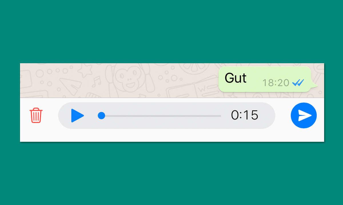 WhatsApp Sprachnachricht vor Versenden anhören