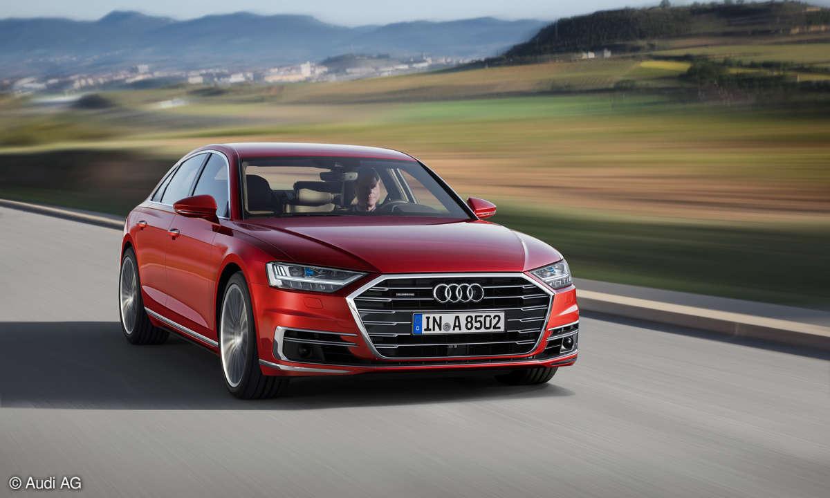 Audi A8 Front Fahrt