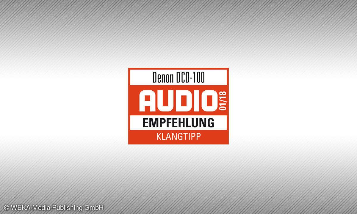 Testsiegel Audio Denon DCD-100 Klangtipp 1/18