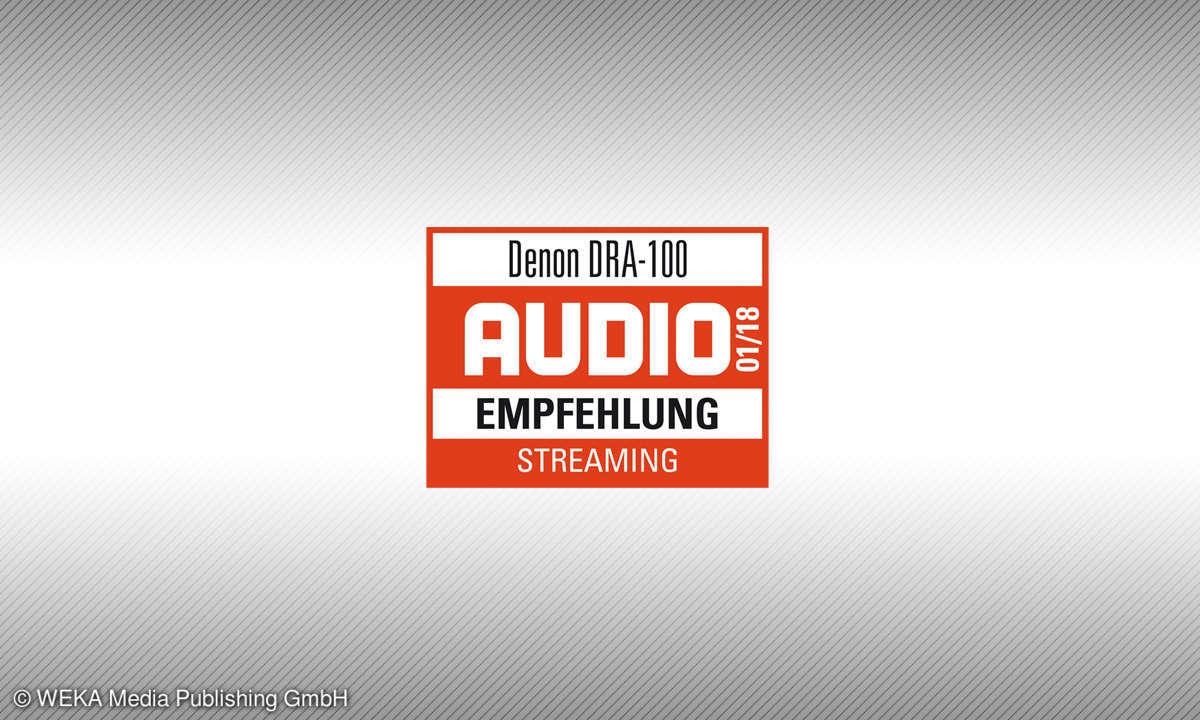 Testsiegel Audio Denon DRA-100 Empfehlung Streaming 1/18