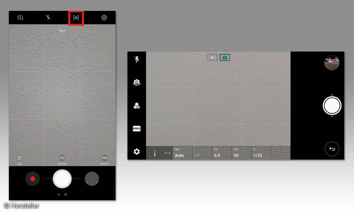Bessere Smartphone Fotos: Einstellungen Pro-Modus