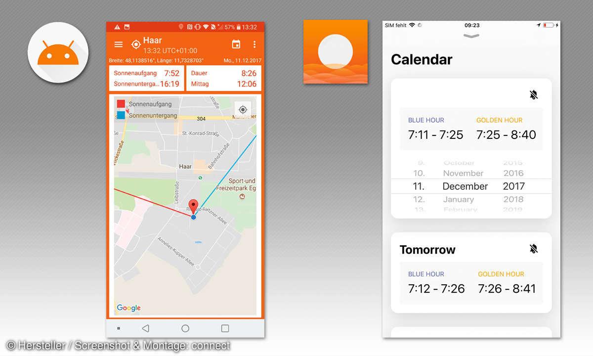 Bessere Smartphone Fotos: Apps für Sonnenzeiten
