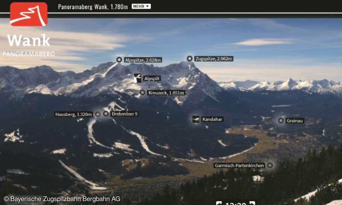 Screenshot Webcam Zugspitze App