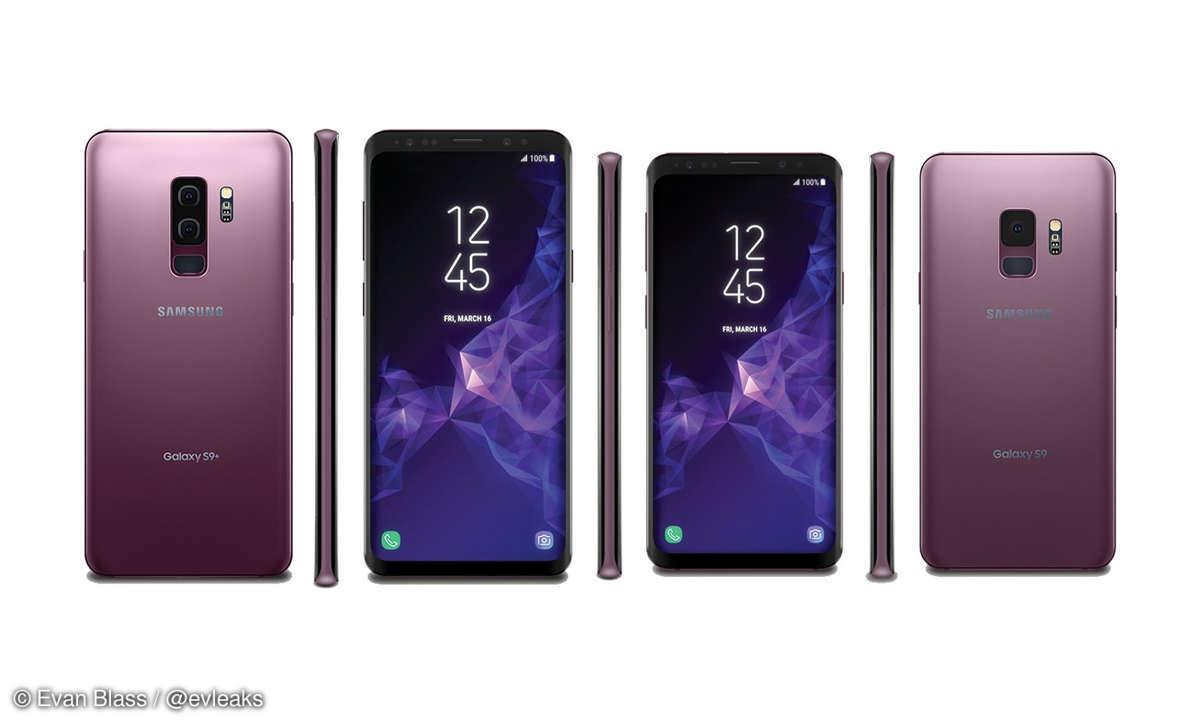Samsung Galaxy S9 und S9 Plus in Lilac Purple