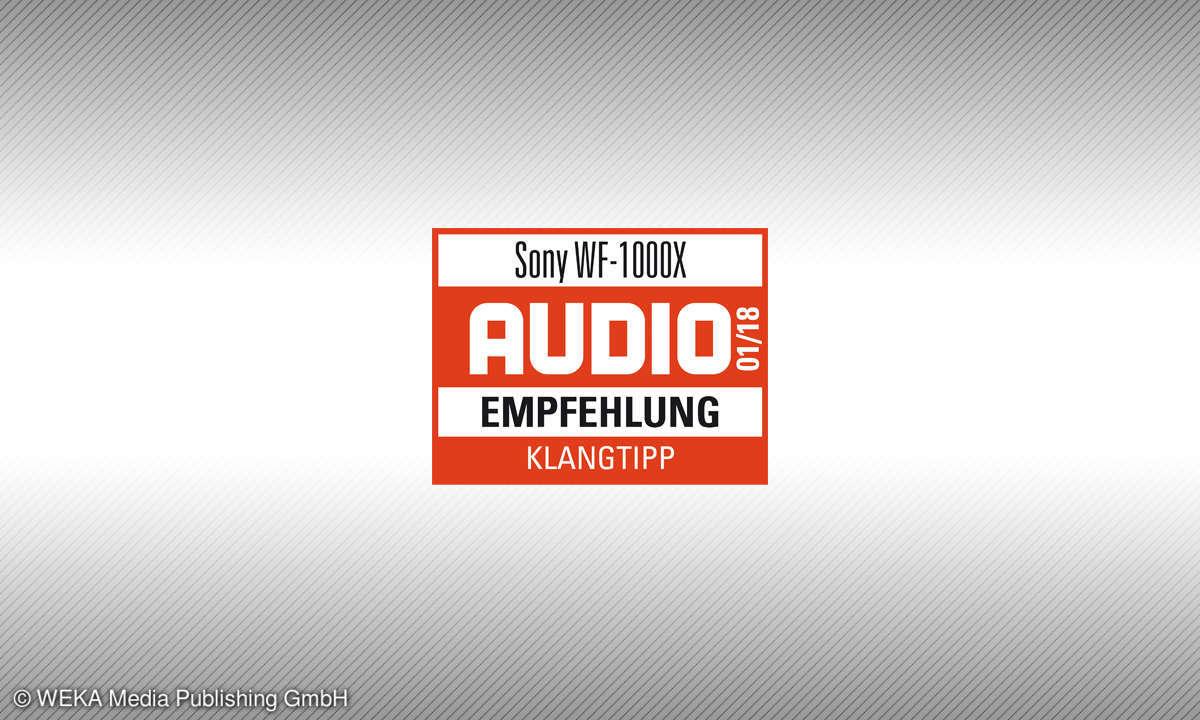 Testsiegel audio 1/2018 Sony WF-1000X