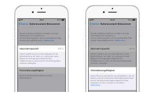 iOS 11.3 Beta Batteriezustand