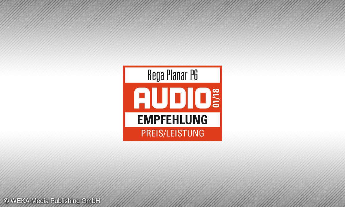 Testsiegel audio 1/18 Rega Planar P6 Empfehlung Preis/Leistung