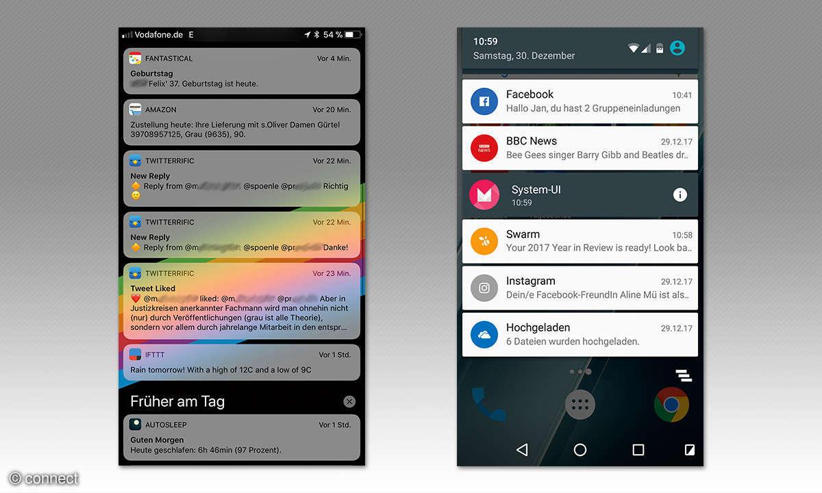 Sperrbildschirm iOS und Android