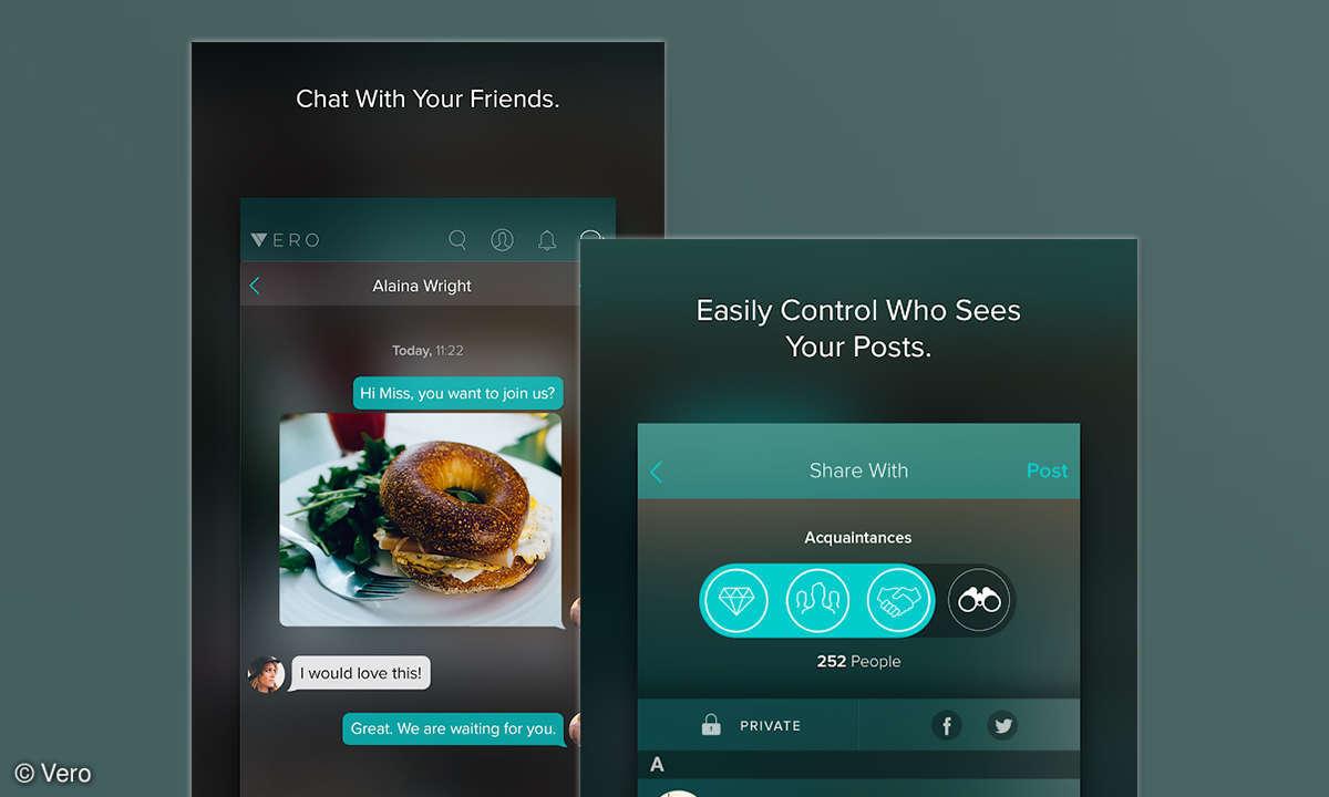 Funktionen der Vero-App