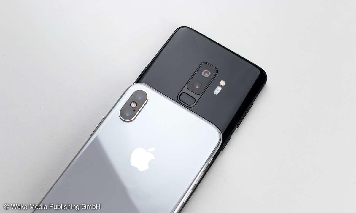Samsung Galaxy S9 Plus vs. Apple iPhone X