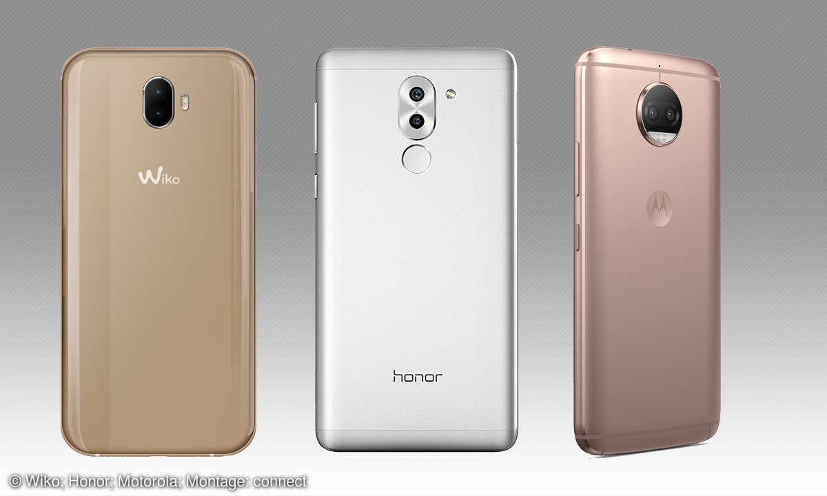 Smartphone-Dual-Kamera: Wiko, Honor & Motorola