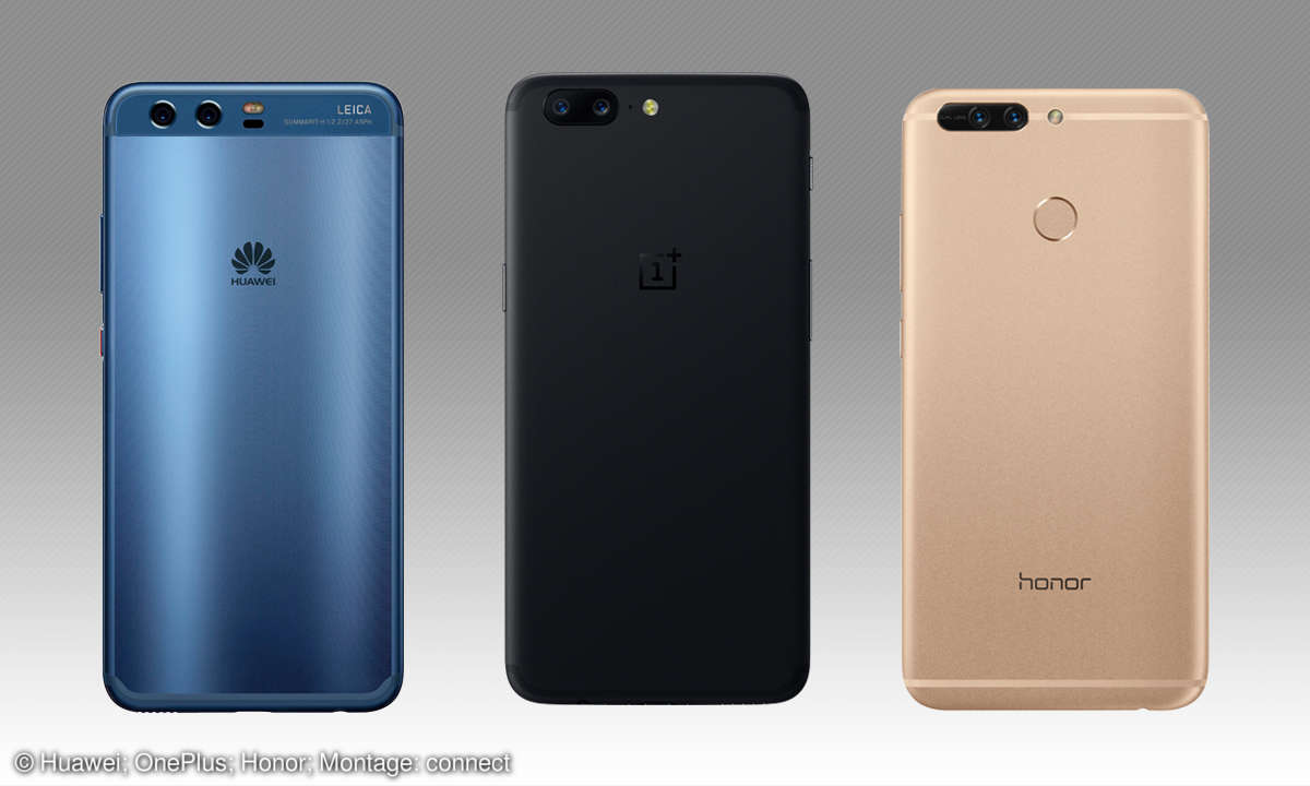 Smartphone-Dual-Kamera: Huawei, OnePlus & Honor