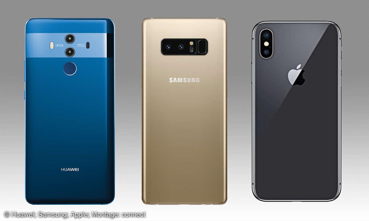 Smartphone-Dual-Kamera: Huawei, Samsung & Apple