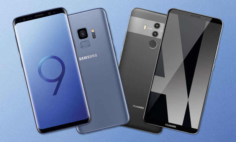 Samsung Galaxy S9 Plus Vs Huawei Mate 10 Pro Connect