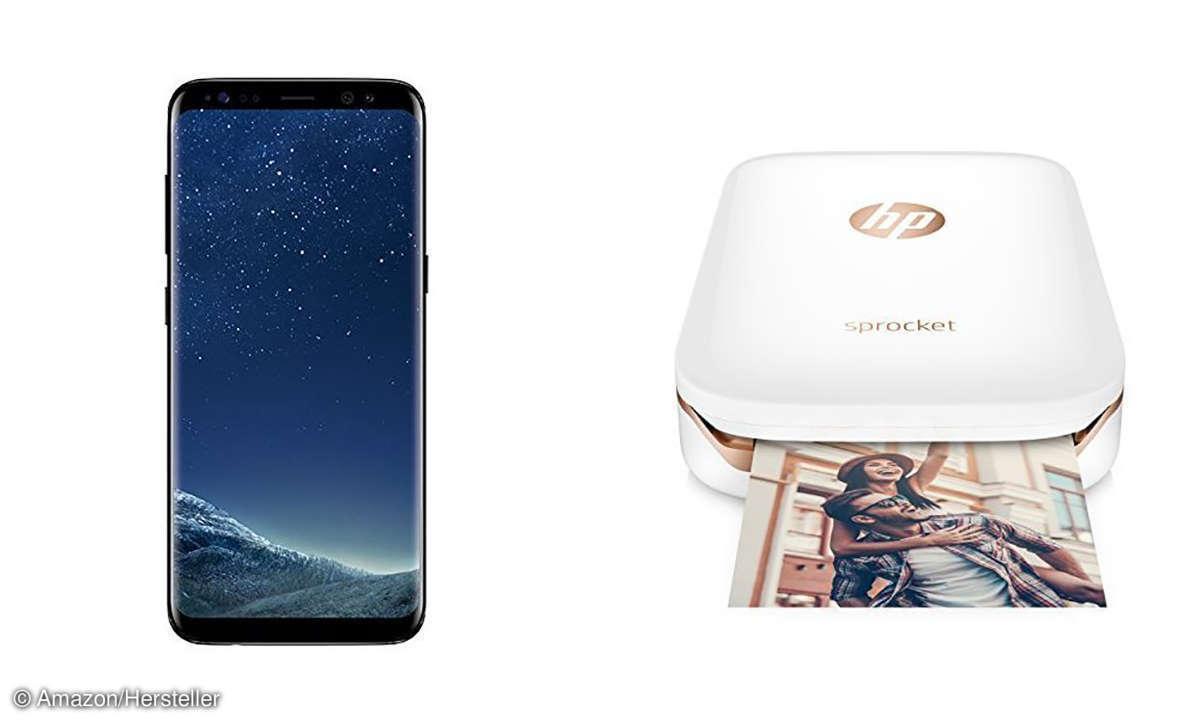 Galaxy S8 und HP Sprocket