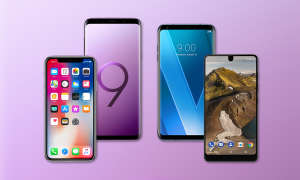Apple iPhone X Galaxy S9 Plus LG V30 Essential Phone