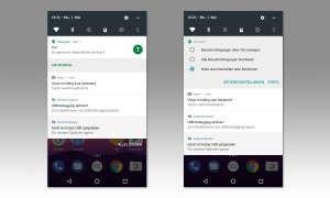 Benachrichtigungen unter Android 7