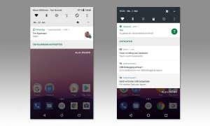 Benachrichtigungen unter Android 8 und Android 7