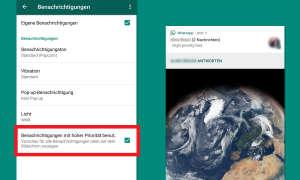 Whatsapp Update Benachrichtigungen Priorisieren