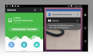 Android 7: Splitscreen horizontal