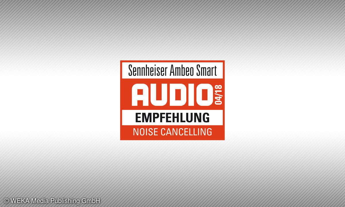 Testsiegel audio Emfehlung 4/18 Sennheiser Ambeo Smart