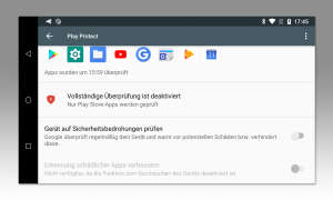 Google Play Protect deaktivieren