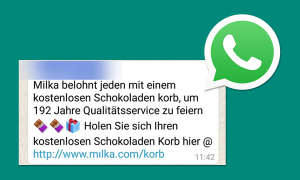 WhatsApp Kettenbrief Milka