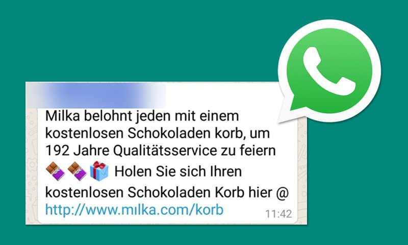 online retailer ad6a9 daaee WhatsApp Kettenbrief Milka