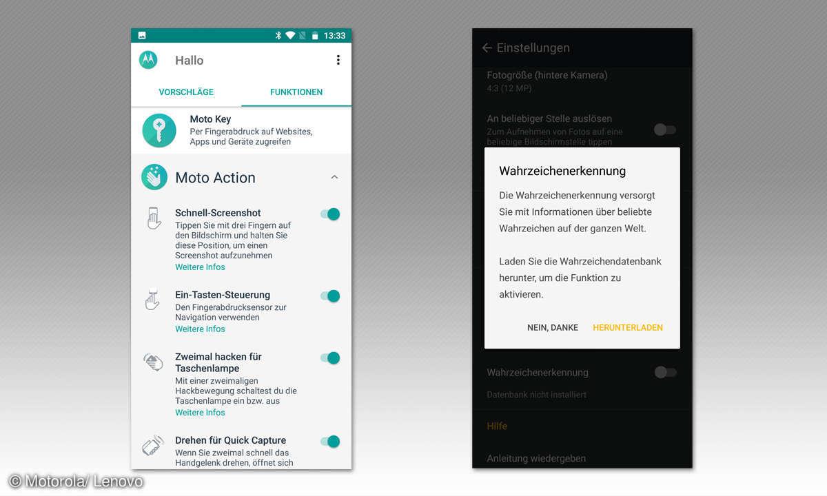 Motorola Moto G6 Screens