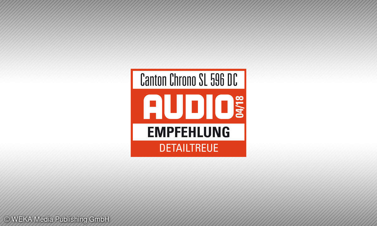 Testsiegel audio 4/18 Canton Chrono SL 596 Empfehlung