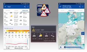 Wetter-Apps im Vergleich - DWD Warnwetter