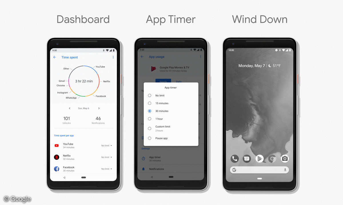 Android P Dashboard App Timer Gute Nacht Modus