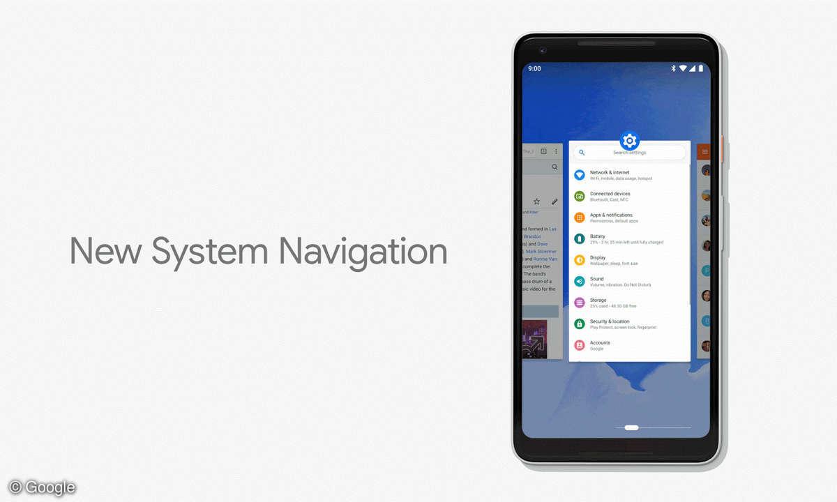 Android P Gestensteuerung