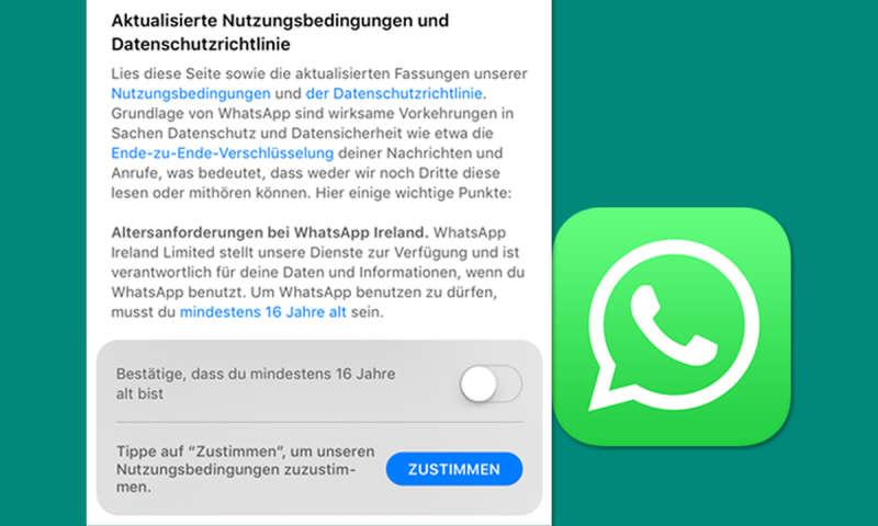 Whatsapp Altersbeschränkung