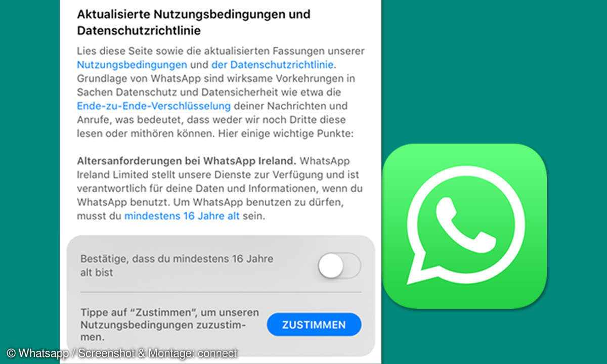 whatsapp altersbeschraenkung 2018 abfrage