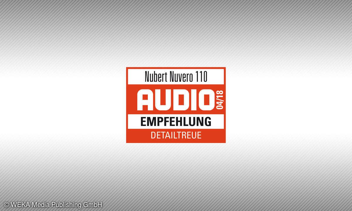 Testsiegel audio 4/18 Nubert Nuvero 110 Empfehlung