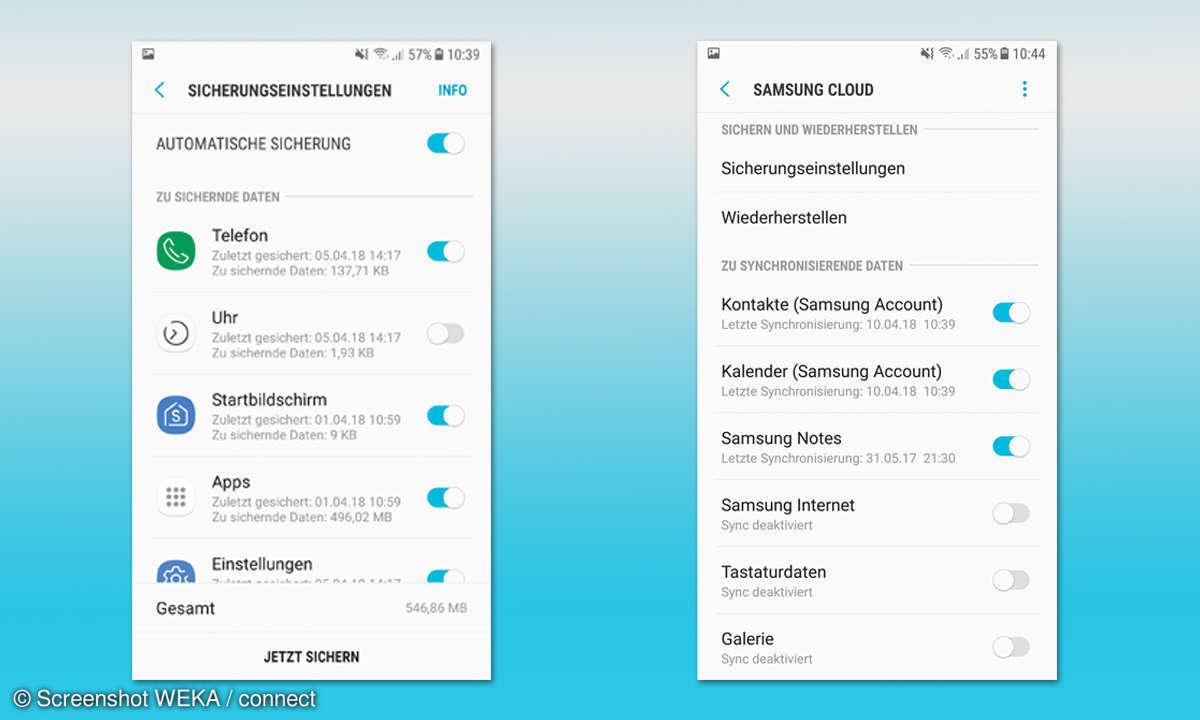 Cloud-Dienste im Leistungscheck - Samsung Cloud