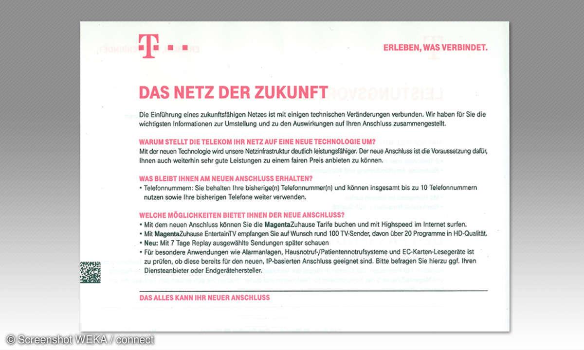 IP-Telefonie: Telekom Werbung - Beispiel