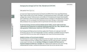 IP-Telefonie: Telekom Kündigung - Beispiel
