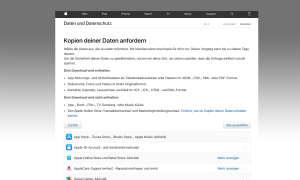 Apple: Datenschutzportal
