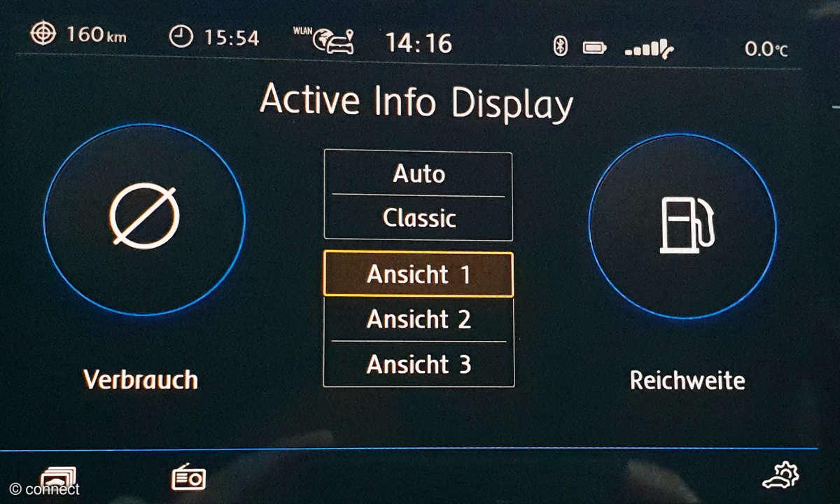 VW T Roc active info Display